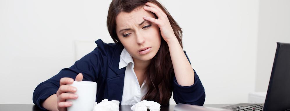 Kranke Mitarbeiter am Arbeitsplatz ARP Blog Header